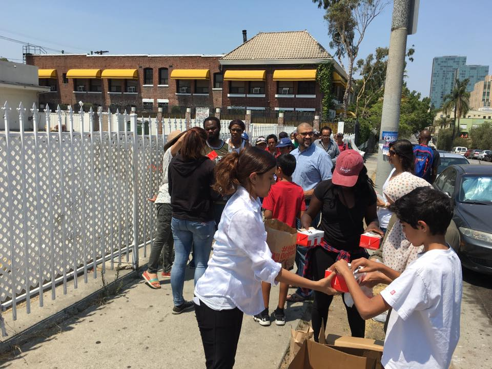 Islamic Center in Koreatown opens its doors for a holiday giveaway