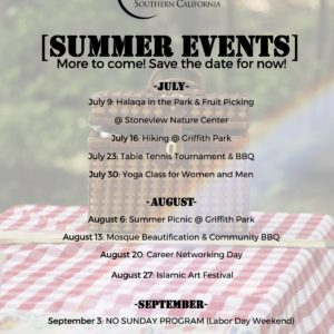 Save the Date for our Summer Events!
