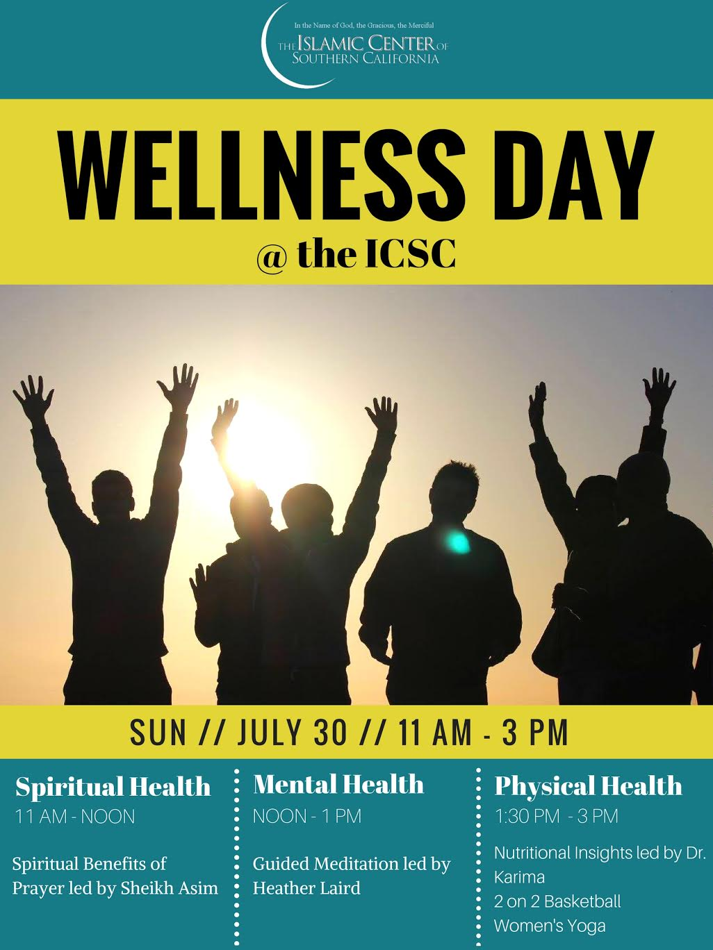 Wellness Day Islamic Center Of Southern California