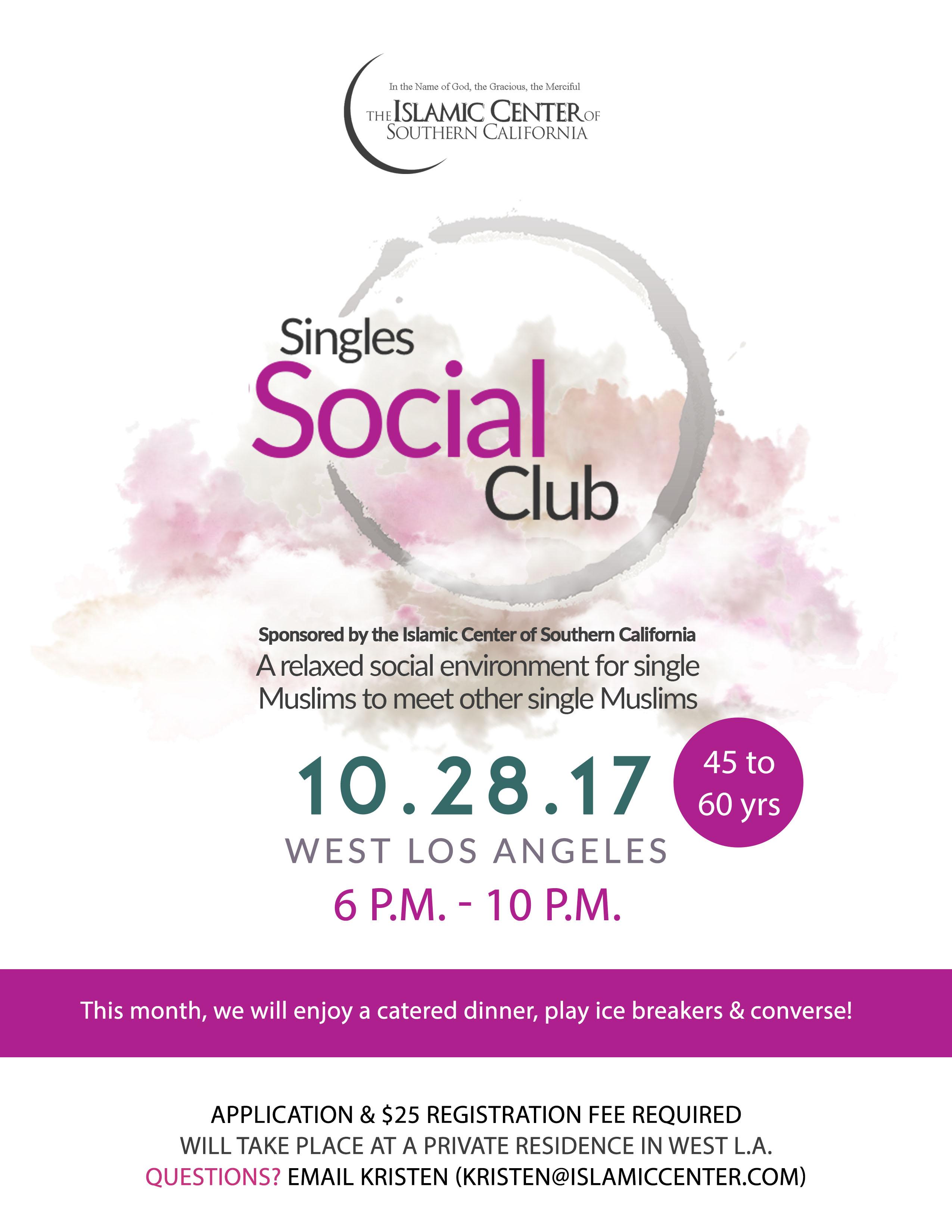Singles Social Club - Islamic Center of Southern California