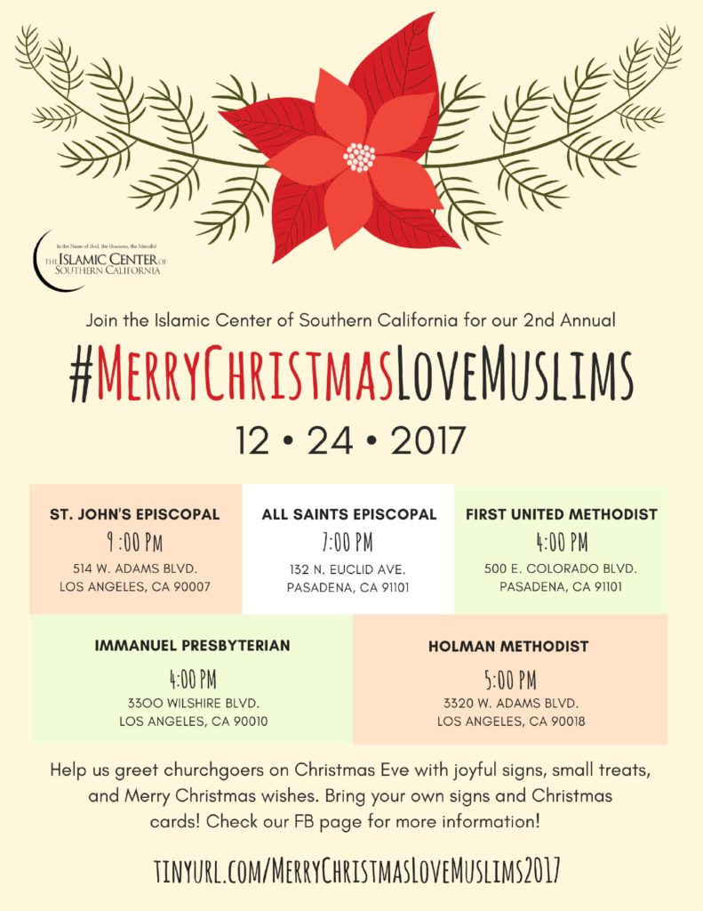 MerryChristmasLoveMuslims Flyer - Islamic Center of Southern California