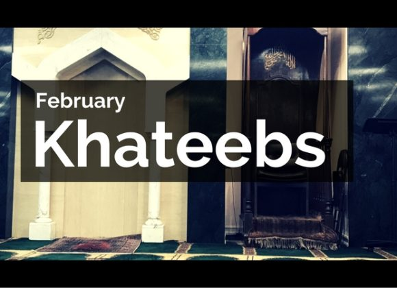 February Khateeb Schedule