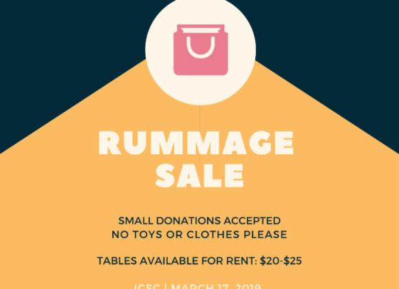 Rummage Sale 2019
