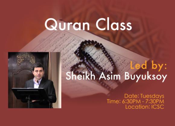 Quran Class with Sheikh Asim