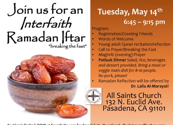All Saints' Interfaith Potluck Iftar
