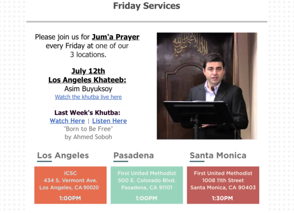 This Week: Juma | Food Pantry | Spiritual Night | Eid al-Adha Picnic