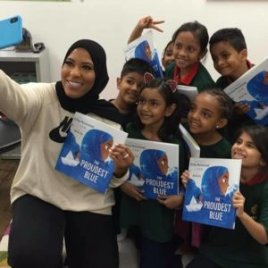 Thank you, Ibtihaj Muhammad! #ProudestBlue