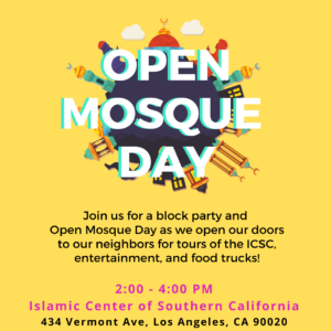 Visit the ICSC On Open Mosque Day!