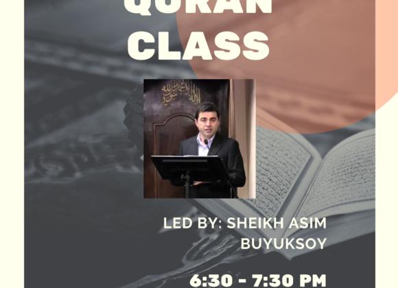 Quran Class with Sh. Asim Buyuksoy