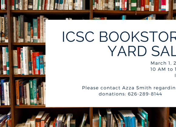 ICSC Bookstore Yard Sale