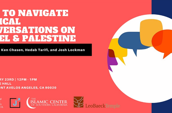 Topic of the Week: Navigating Difficult Conversations on Israel and Palestine