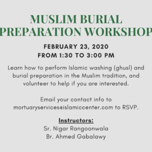 Muslim Burial Preparation Workshop