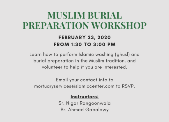 Muslim Burial Preparation Workshop