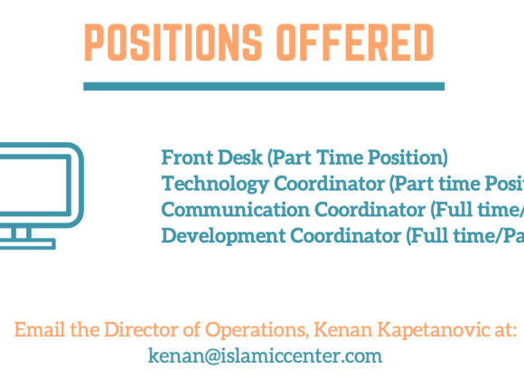 Employment Opportunities at the Islamic Center of Southern California