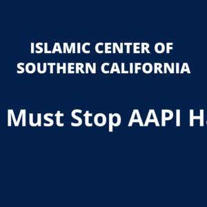 We Must Stop AAPI Hate