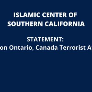 ICSC Statement: London Ontario, Canada Terrorist Attack