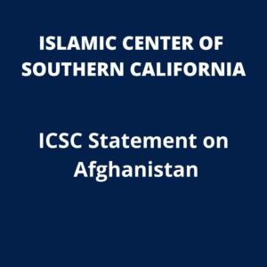 ICSC Statement: ICSC Statement on Afghanistan